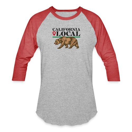 California Local Wear The Bear - Unisex Baseball T-Shirt