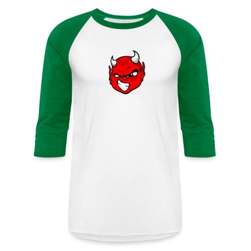 Rebelleart devil - Unisex Baseball T-Shirt