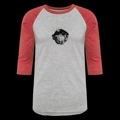 ROS FINE ARTS COMPANY - Black Aqua - Baseball T-Shirt