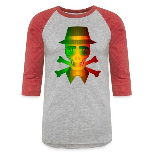 Rasta Man Rebel - Unisex Baseball T-Shirt