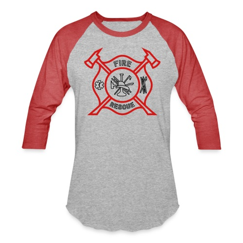 Fire Rescue - Unisex Baseball T-Shirt