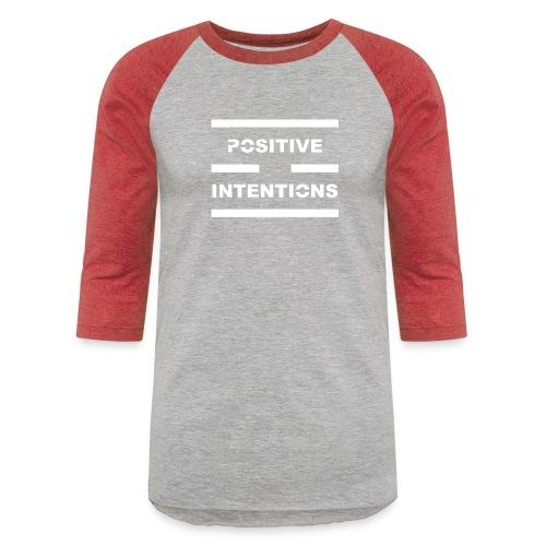 Positive Intentions White Lettering - Unisex Baseball T-Shirt