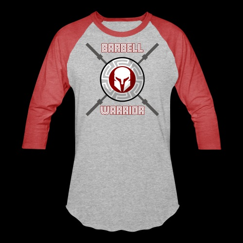 Barbell Warrior - Unisex Baseball T-Shirt
