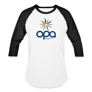 Long-sleeve t-shirt with full color OPA logo - Baseball T-Shirt