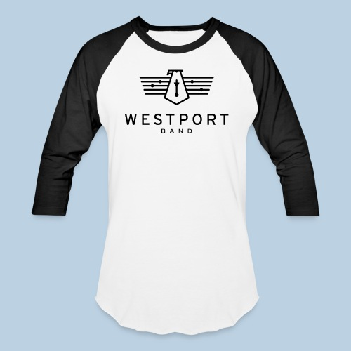 Westport Band Back on transparent - Unisex Baseball T-Shirt