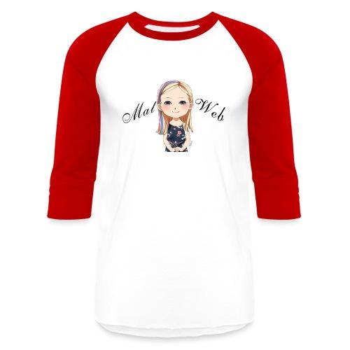 Mallory Chibi png - Unisex Baseball T-Shirt