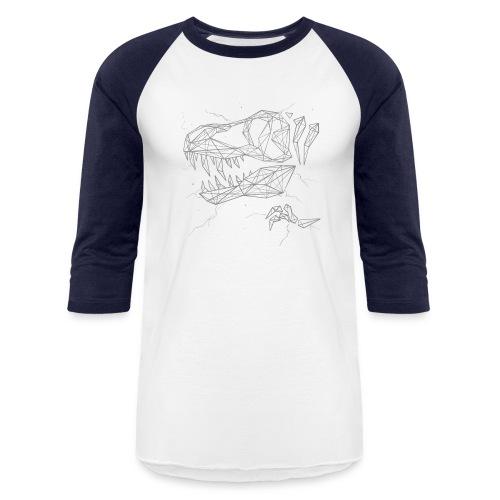 Jurassic Polygons by Beanie Draws - Baseball T-Shirt