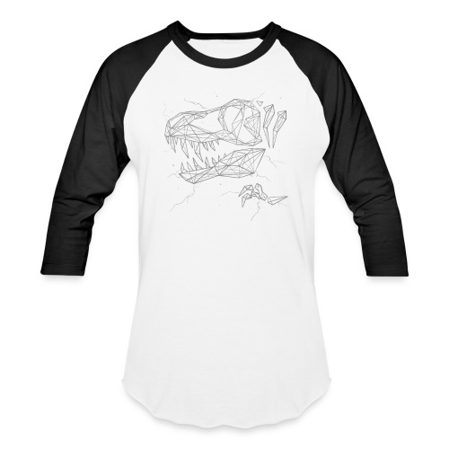Jurassic Polygons by Beanie Draws - Baseball T-Shirt