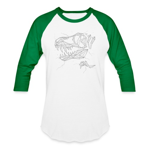 Jurassic Polygons by Beanie Draws - Unisex Baseball T-Shirt