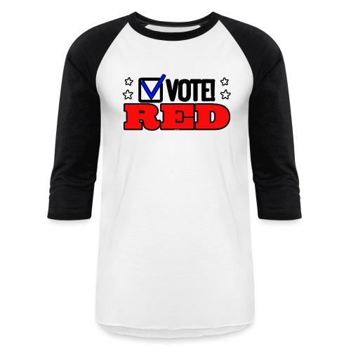 VOTE RED - Unisex Baseball T-Shirt