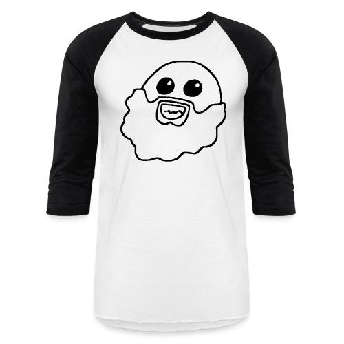 Cardboard Kraken Face BLK - Unisex Baseball T-Shirt