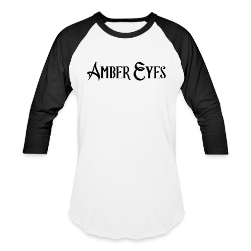 AMBER EYES LOGO IN BLACK - Unisex Baseball T-Shirt