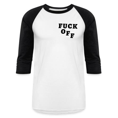 FUCK OFF Heavy Metal Parking Lot - Unisex Baseball T-Shirt
