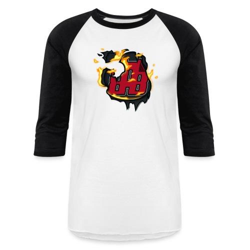 BAB Logo on FIRE! - Unisex Baseball T-Shirt