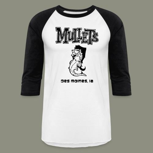 mulletmain black - Baseball T-Shirt