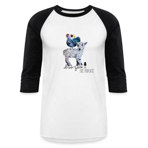 Drink & Farm Logo - Baseball T-Shirt