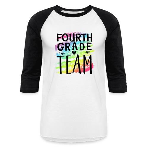 Fourth Grade Team Crayon Splash Teacher T-Shirts - Baseball T-Shirt