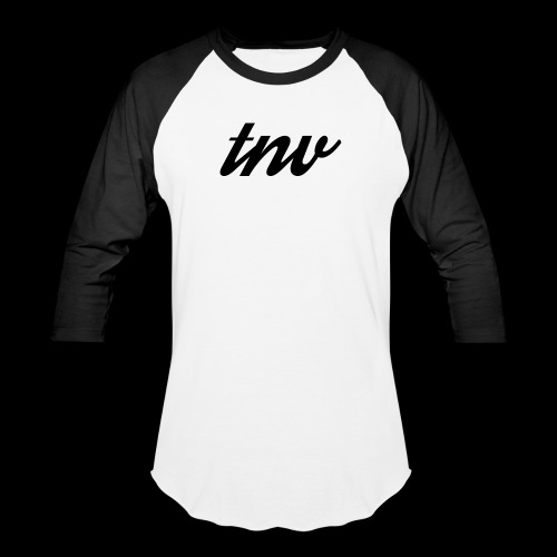 TNV BLACK copy png - Unisex Baseball T-Shirt