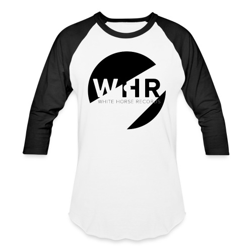 White Horse Records Logo - Unisex Baseball T-Shirt