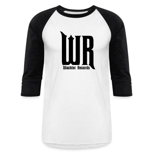 Wachler Records Dark Logo - Unisex Baseball T-Shirt