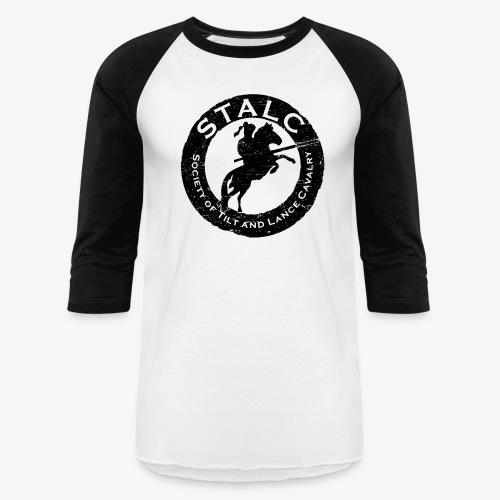 STALC Retro Logo BLACK - Unisex Baseball T-Shirt