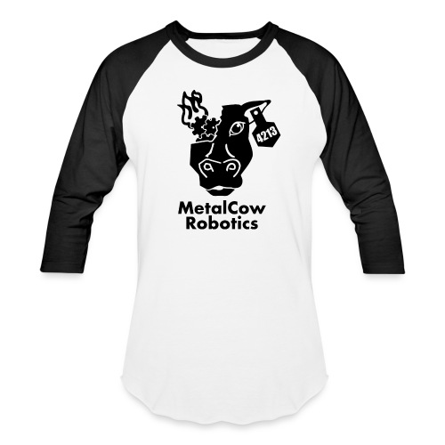 MetalCow Solid - Unisex Baseball T-Shirt