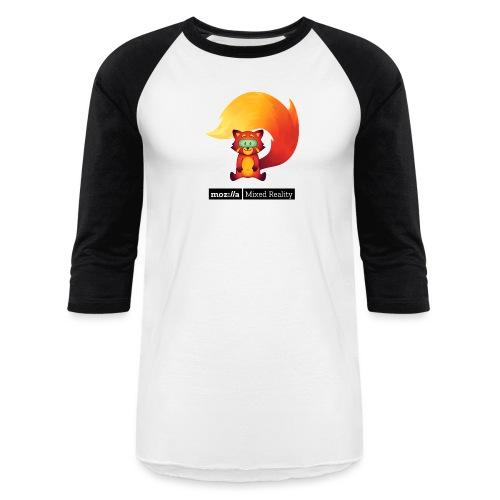 Sitting Foxr (black MR logo) - Baseball T-Shirt