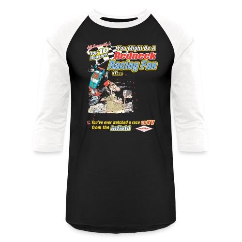 racing white only - Unisex Baseball T-Shirt