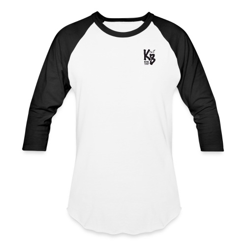 Kure Beach Sunrise-Black Lettering-Front and Back - Baseball T-Shirt