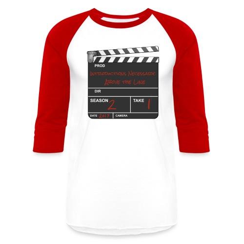 IN: Above The Line Logo - Unisex Baseball T-Shirt