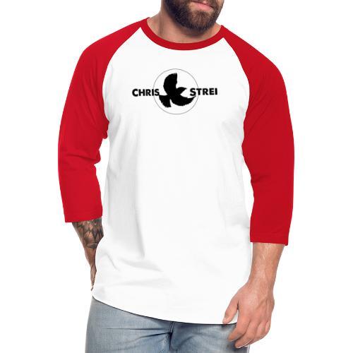 Chris Strei BlackBird Logo (black) - Unisex Baseball T-Shirt