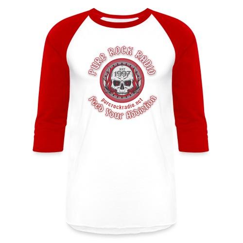 PUREROCKRADIO darkback radioflag PNG png - Unisex Baseball T-Shirt