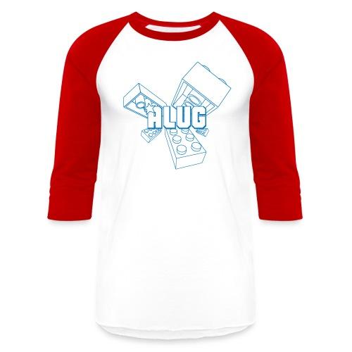 Brick01Blue - Baseball T-Shirt