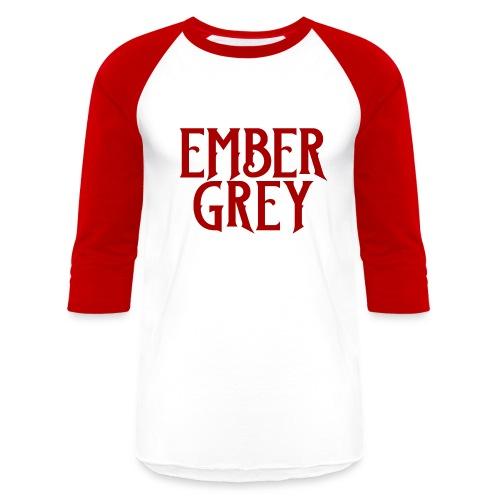 Ember Grey Name Plate - Baseball T-Shirt