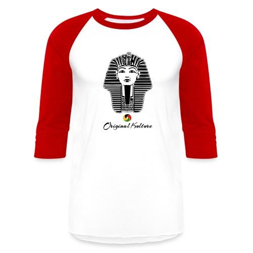 Original Kulture Kemet Mask Print - Baseball T-Shirt