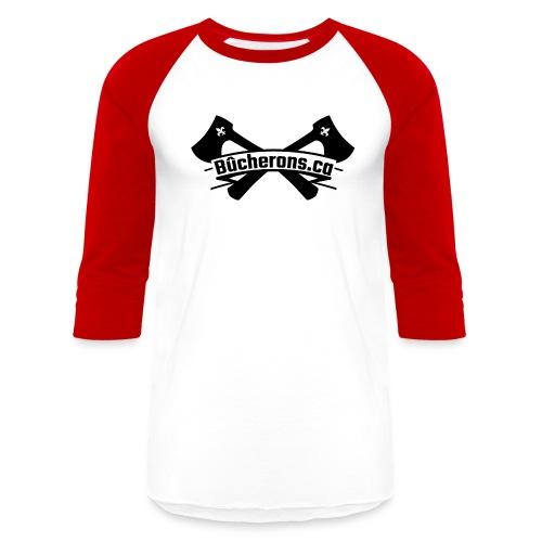 Banner and Axe - Unisex Baseball T-Shirt