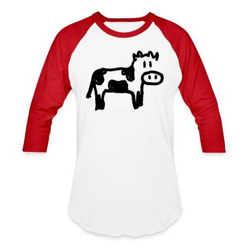 Cow - Unisex Baseball T-Shirt