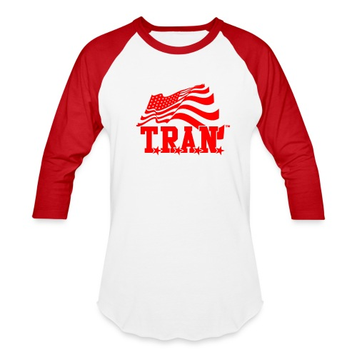 New Tran Logo Transparent RED png - Baseball T-Shirt