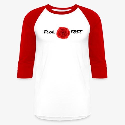 flor fest | black text - Baseball T-Shirt