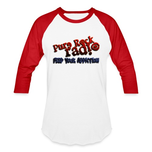 purerockradio feedaddiction transp 1300px - Unisex Baseball T-Shirt