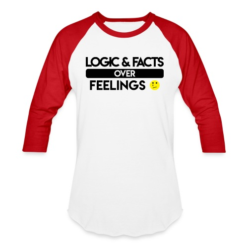 facts over feelings black - Baseball T-Shirt