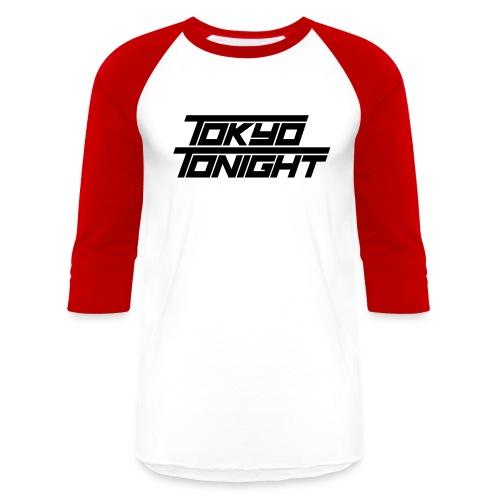 Tokyo Tonight Font Wh - Unisex Baseball T-Shirt