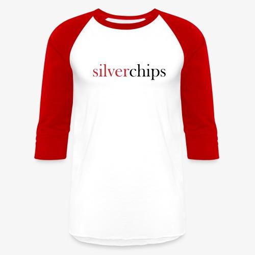 SilverChips Logo - Unisex Baseball T-Shirt