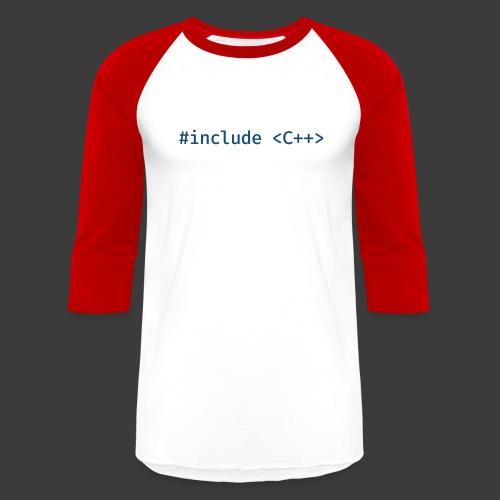 Blue Include Logo - Unisex Baseball T-Shirt