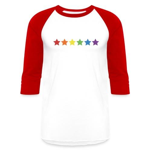 Pride Rainbow Stars - Unisex Baseball T-Shirt