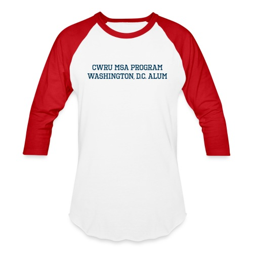 DC CWRU MSA ALUM - Unisex Baseball T-Shirt