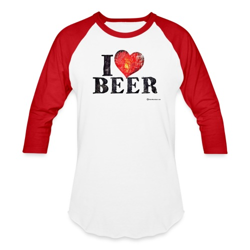 I Love Beer - Baseball T-Shirt