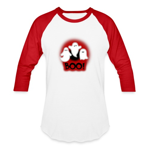 Ghosties Boo Happy Halloween 7 - Baseball T-Shirt