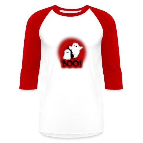 Ghosties Boo Happy Halloween 1 - Baseball T-Shirt