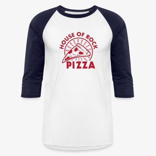 HOR Pizza Red - Unisex Baseball T-Shirt